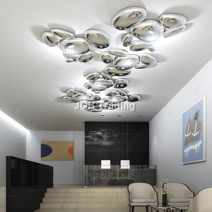 Contemporary luxury Metal LED Droplets Ceiling Lamp For Hotel Decoration